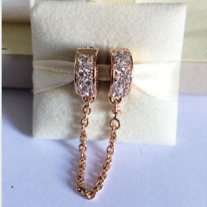 3ff95e5440db3 Details about GENUINE PANDORA Rose Shining Elegance Safety Chain  786322CZFREE DELIVERY