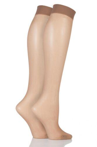 Donna 2 Paio ELLE 15 denari alti ginocchio con polsino Comfort