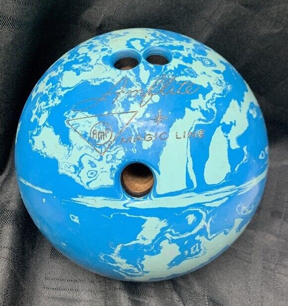 Vintage AMFlite Magic Line bluee Marbleized Bowling Ball 12lbs