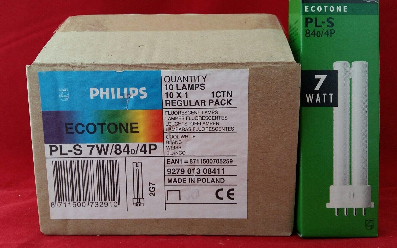 PHILIPS ECOTONE PL-S 705259 7W 7WATT 840 4P 4PIN BULB BOX OF 10
