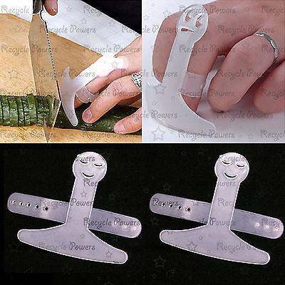 2 pcs Hand Finger Guard Protector Knife Chopping Cut Helper Kitchen Tool Safe