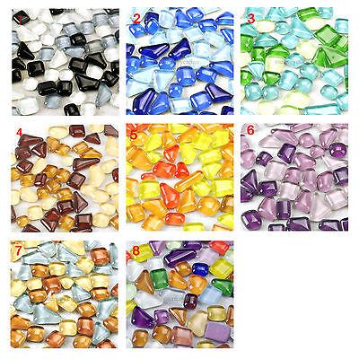 100G 65PCS Crystal Glass mosaic Tiles Shapes Multicolour Crystal Sundry