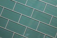 Teal 3x6 Glass Subway Tiles For Kitchen Backsplash/bathroom