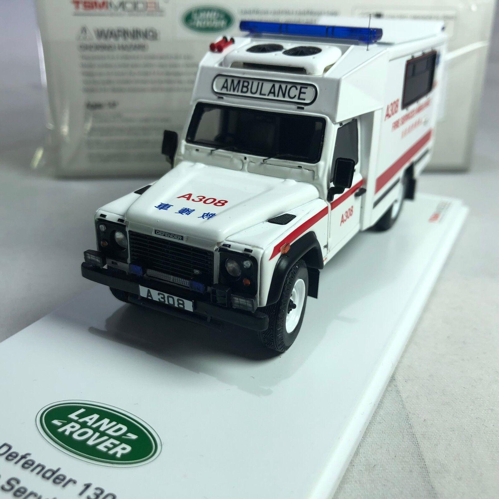 1 43 TSM Land Rover Defender 130 Ambulance Hong Kong Fire Service Department