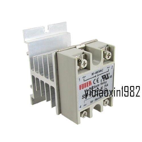 dissipateur de chaleur New Solid State Relais SSR-25AA AC-AC 25 A 80-280VAC//90-480VAC