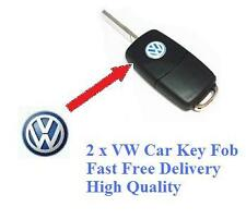 2 x VW Car Key Fob Remote Badge Logo Emblem Polo Golf Passat Bora Sirocco