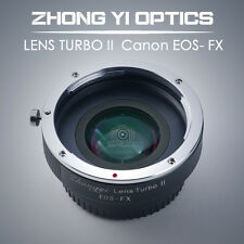Lens Turbo II adapter for Canon EOS EF mount lens to FUJI Xpro2 X-T2