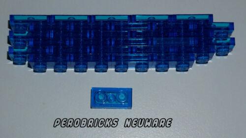 Lego Technic Technic Basic 30 Plates 1x2 Transparent Dark Blue #3023 NEW