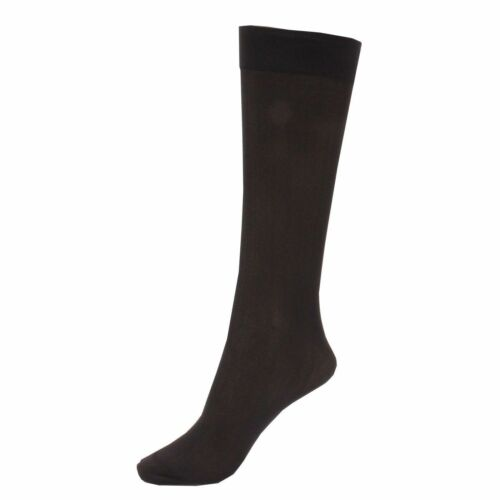 Ladies 2 Pair 70 Denier Soft Opaque Knee Highs Comfort Top Trouser Pop Socks-g