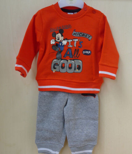 Mickey Mouse Baby Jogginganzug 2 Teiler Anzug Jogging Trainingsanzug NEU