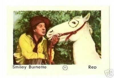 Other Non-sport Card Merch Collectibles Realistic Smiley Burnette #91-1950s Dutch Movie Star Card