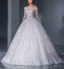White/Ivory Vestido De Novia Wedding Dress Lace A-Line Bridal Gown Custom Made