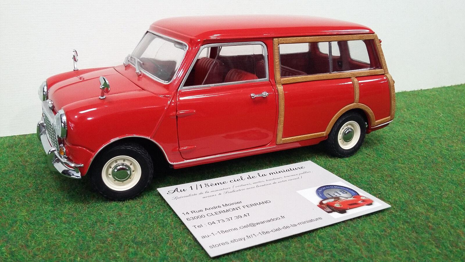 MORRIS  MINI voyageLER  break rge 1 18 KYOSHO 08195R voiture miniature collection  100% neuf avec qualité d'origine
