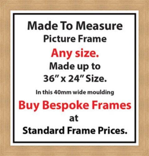 Bespoke Picture Photos Frame Online Artwork Framing Services 40 mm Wide Moulding