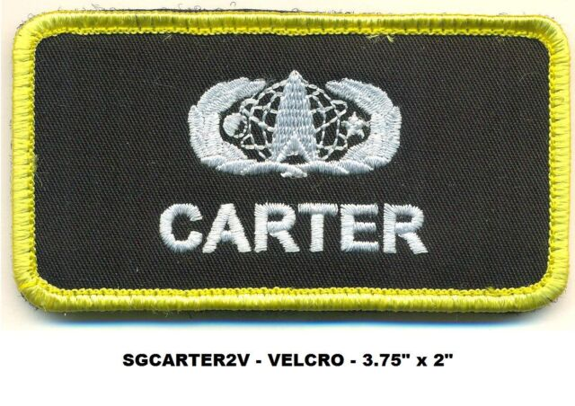 STARGATE CARTER VEL-KRO NAME PATCH - SGCARTER2V