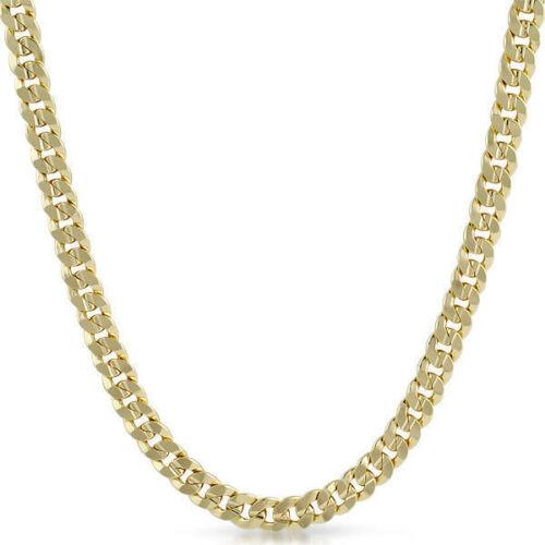 8 mm chapado En Oro Italiano frenar eslabón de la cadena para hombre Collar
