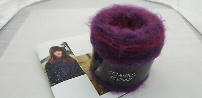 208 Beere verlaufend Mohair Seide Wolle 100 g Gomitolo Silkhair Lana Grossa Fb
