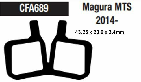 Resin Brake Pads One Piece Pad EBC Magura MT7