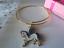 UNICORN HORSE,PONY CHARM GOLD BRACELET BANGLE GIFT BOX  FITS AGE 6 TO 11 YEARS