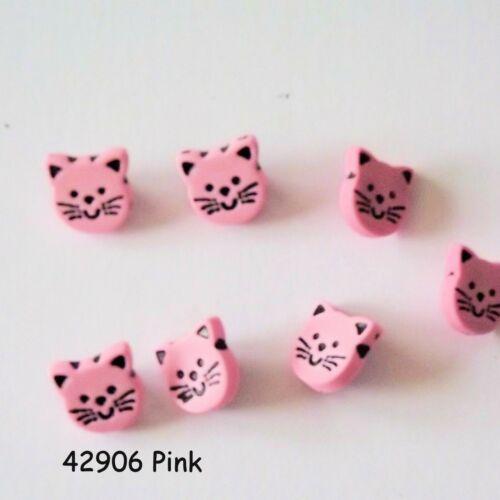 botones de caña botones de bebé botones de 14mm Botones Gato Rosa g4290 6