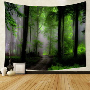 Frondent Forest Tree Print Tapestry Wall Hanging Decorative Tapestry Home Decor
