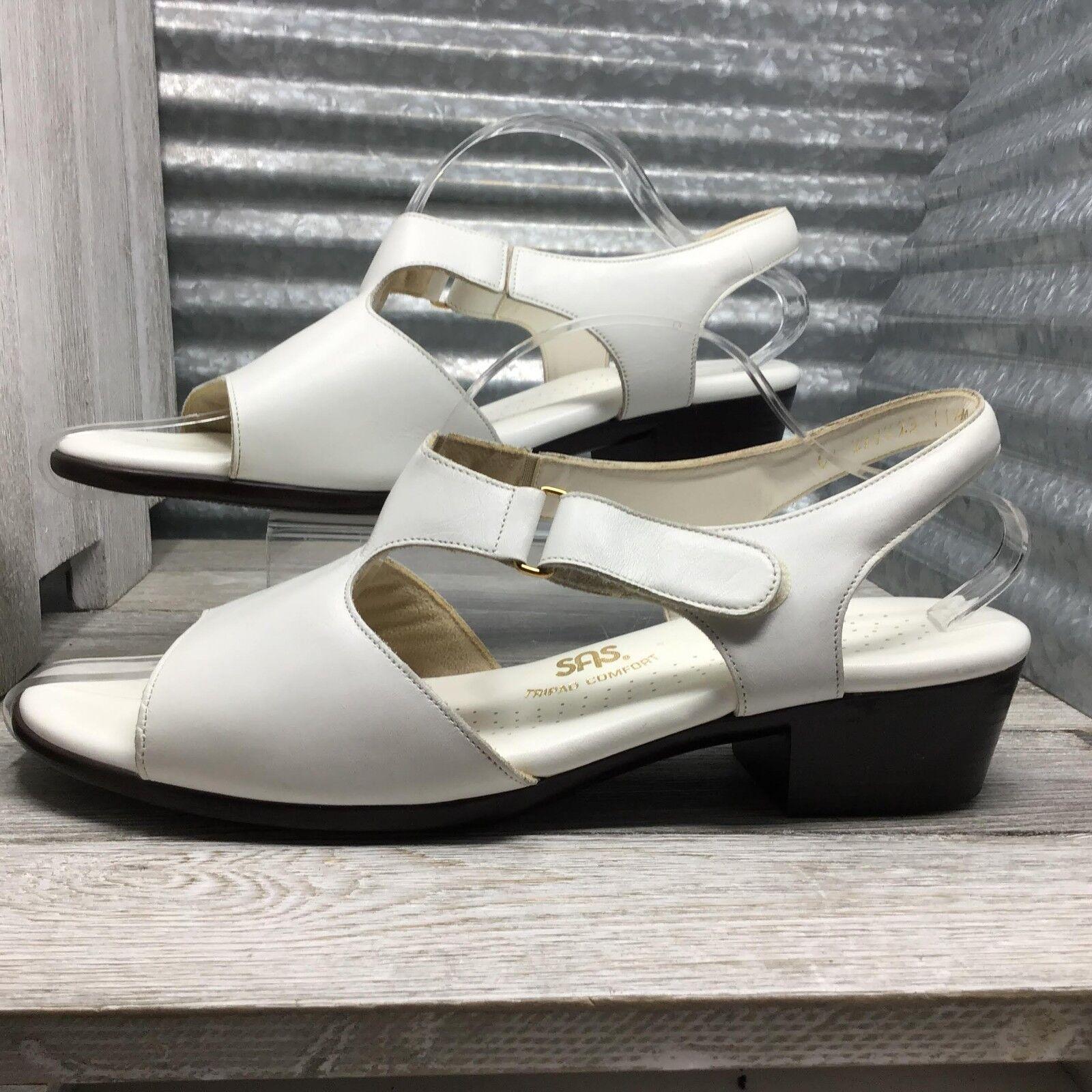 SAS Comodidad Zapato De Cuero blancoo Sandalia De Mujer Mujer Mujer Talla 11.5 Made In Usa  70% de descuento
