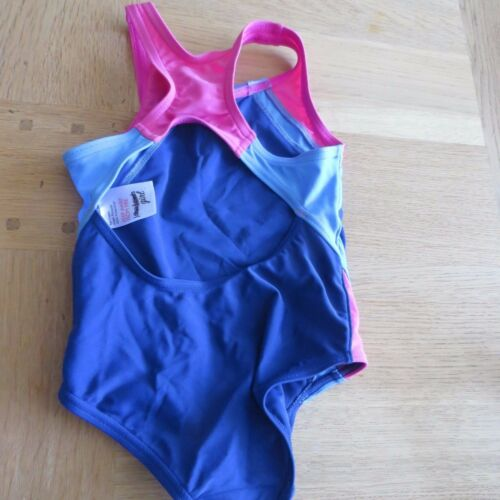 Height 92cm Chest 51cm Age 2 JOHN LEWIS Girls Blue//Pink Swimsuit