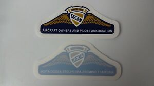 """2 AOPA Aircraft Owners and Pilots Association  Sticker   Decal  5 1/5"""" x 2"""""""