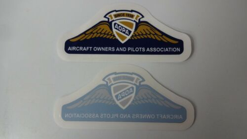 """2 AOPA Aircraft Owners and Pilots Association Decal Sticker 5 1//5/"""" x 2/"""""""