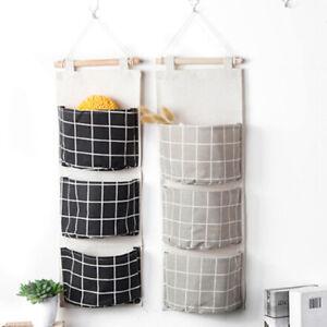 Home-Door-Fabric-Pockets-Wall-Hanging-Storage-Bathroom-Closet-Organizer-Bag-L