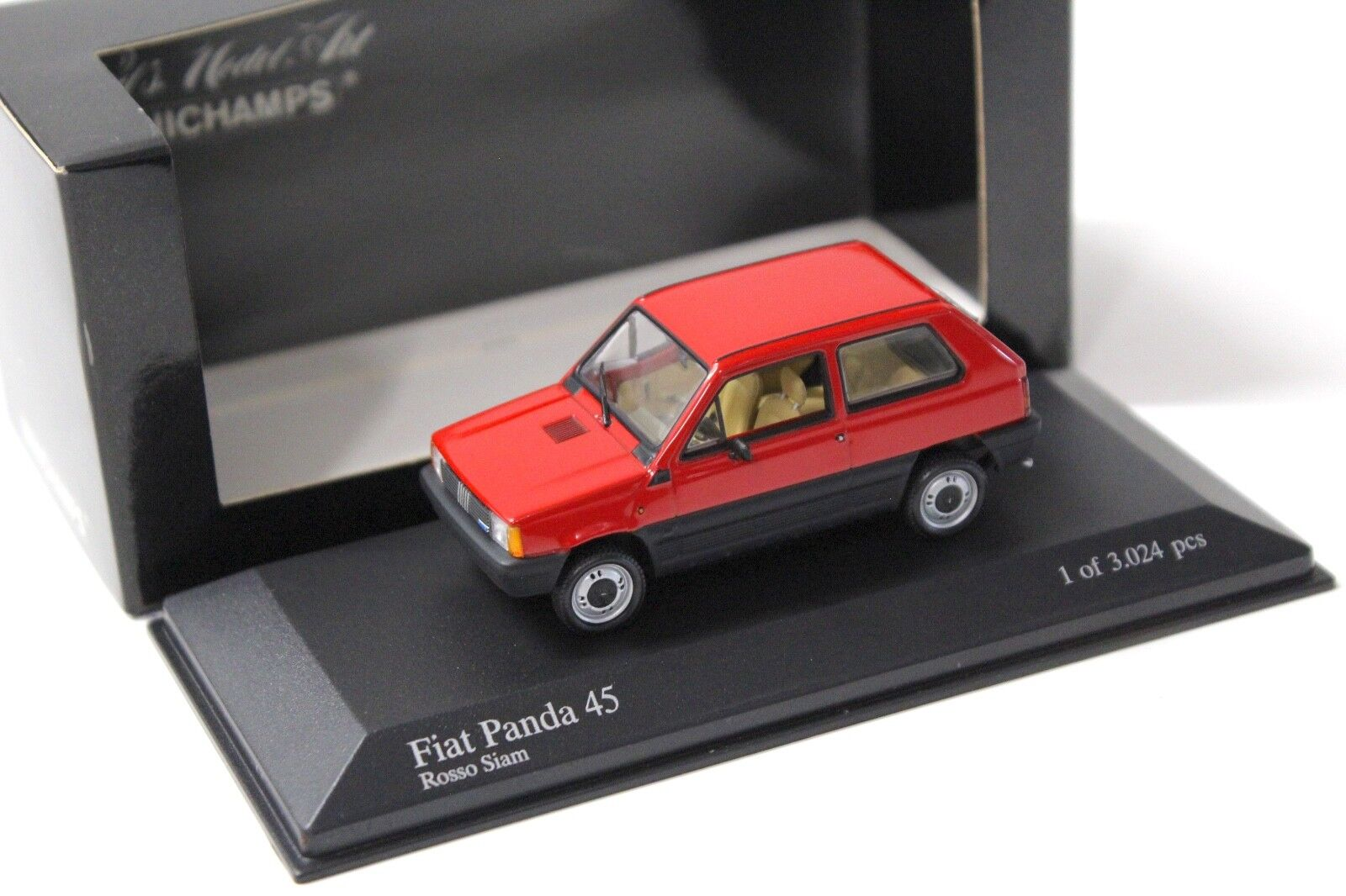 1 43 Minichamps Minichamps Minichamps Fiat Panda 45 red Siam red NEW bei PREMIUM-MODELCARS 302d6a