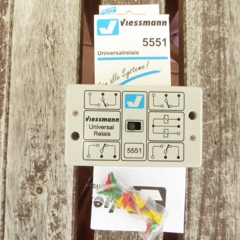 Viessmann 5551 Universale - Relais 1 x 4um Neuwertig in Confezione Originale