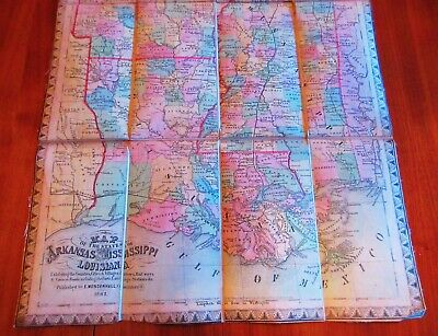 US CONFEDERATE STATES 1862 WV MAP WIRT WOOD WYOMING COUNTY Civil War history BIG