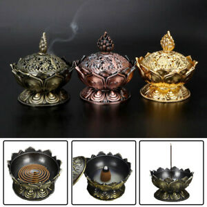 Chinese-Lotus-Incense-Burner-Holder-Flower-Statue-Censer-Room-Decoration-LAC