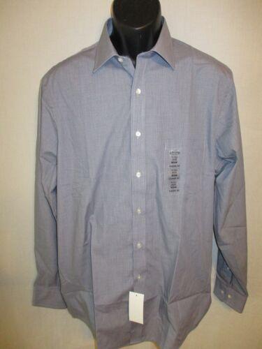 Arrow Cotton Blnd Ink Blue Check Point Long Slve Dress Shirt SR$40 NEW