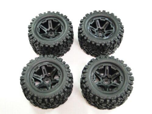 NEW TRAXXAS E-REVO 2.0 VXL 1//10 Wheels /& Tires Set Talon EXT Tires 17mm RRE25