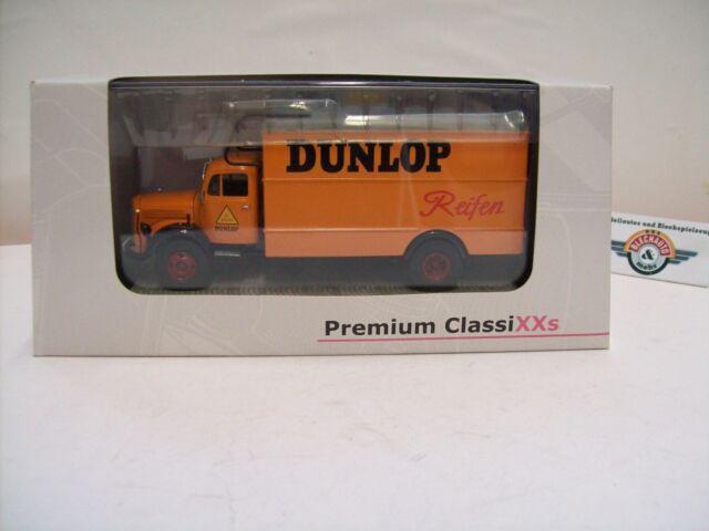 "Mercedes Benz L3500 Kasten ""DUNLOP-Reifen"" 1952, Premium ClassiXXs 1:43, OVP"