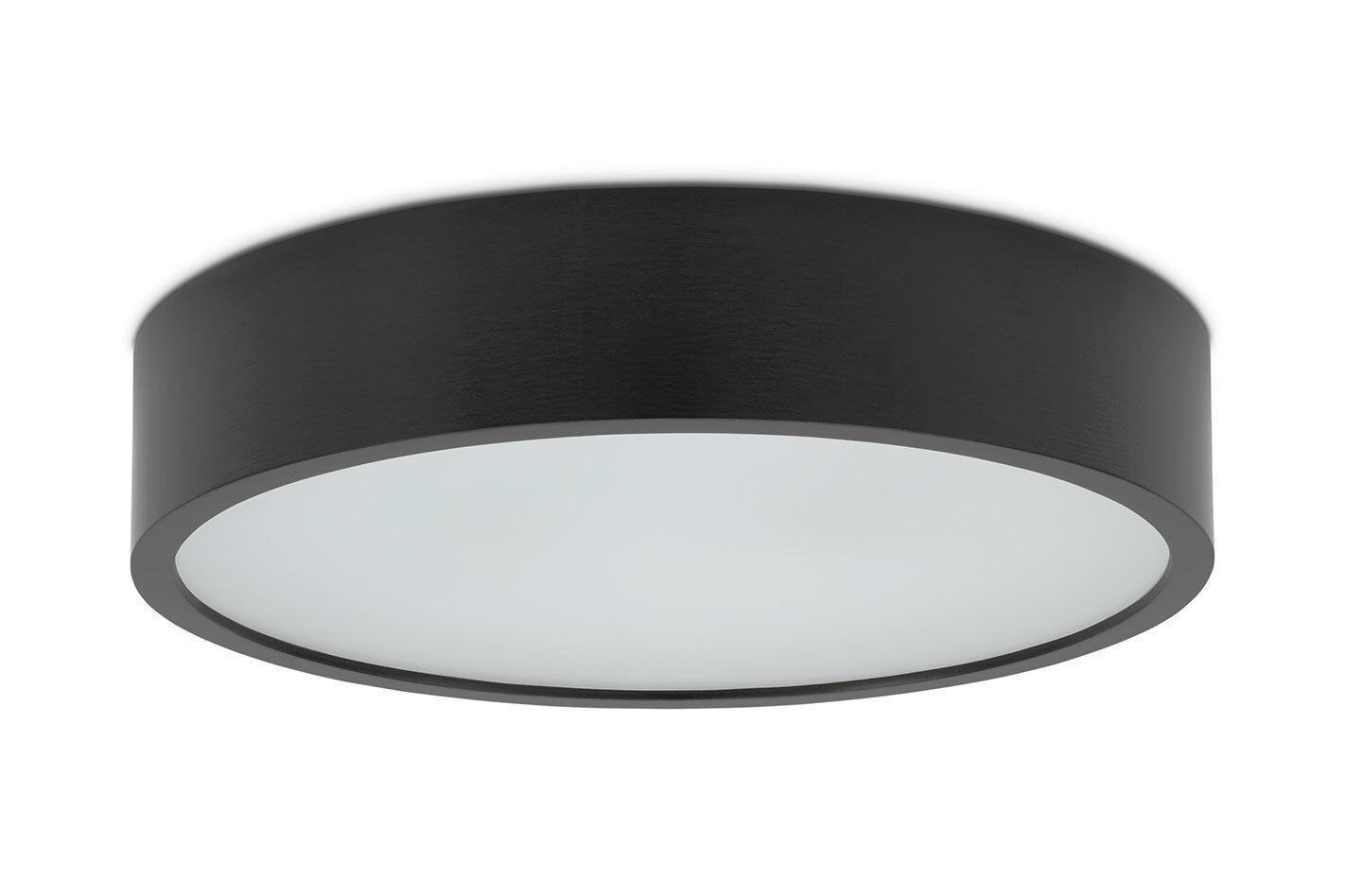 375 schwarz Plafond KATIA E27 Deckenlampe Deckenleuchte glas holz runde modern