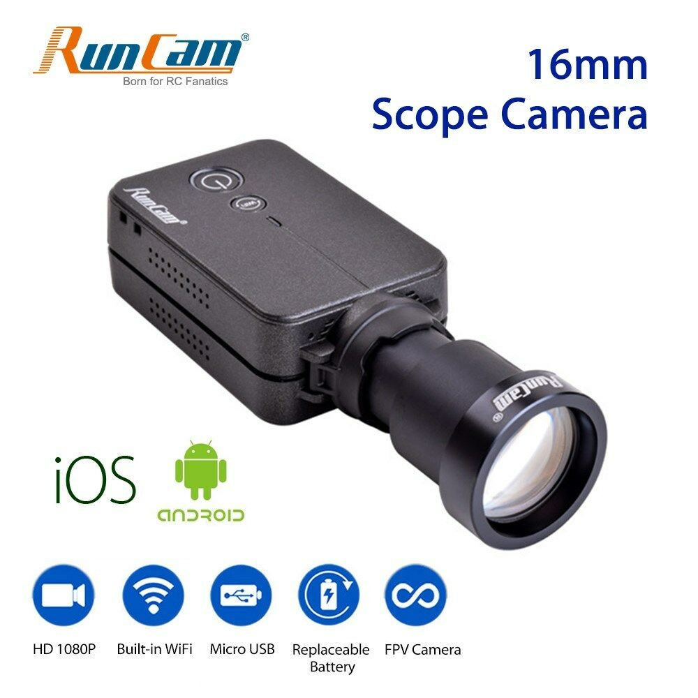 FPV Camera HD 1080P WiFi Camcorder Scope Recorder 16mm 180  Micro USB For Drone