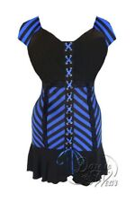 Dare To Wear Victorian Gothic Plus Size Cabaret Corset Top in Jolly Roger Pirate