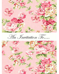 Image Is Loading Floral Vintage Style 16 Invitations Birthday Party Chic