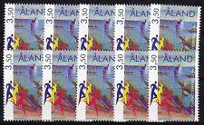 10 x Aland 1999 Mi.Nr. 163 ** Meisterschaft Crosslauf