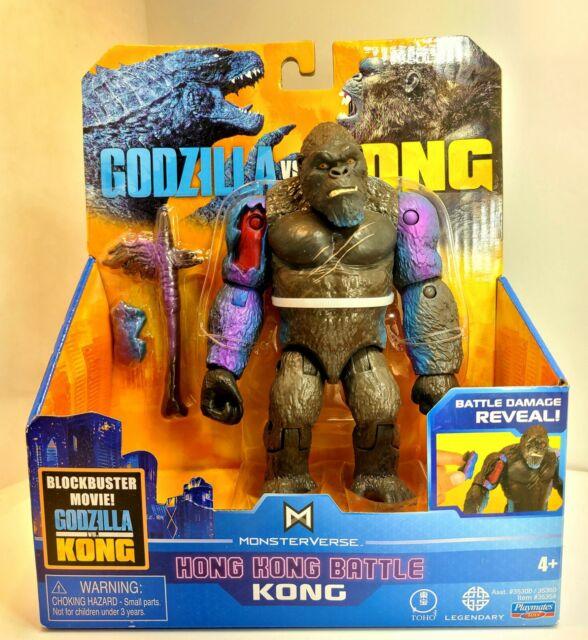Godzilla vs Kong Hong Kong Battle King Kong Damage Reveal Playmates Toy NEW