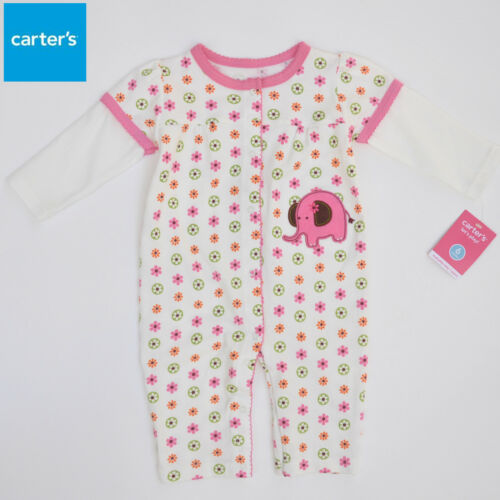 Carter/'s Baby Girl Pink Applique All In One Jumpsuit Size 3M//6M//9M//12M//18M//24M