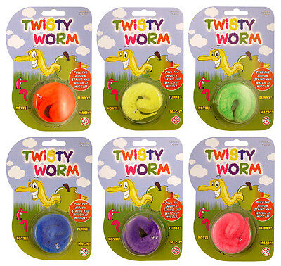 1 - 36 Magic Wiggly Worm Children's Birthday Party Bag Lucky Dip Toy