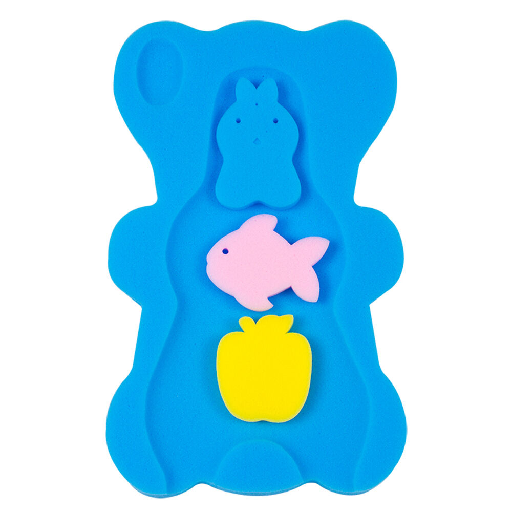 Yellow UNAOIWN Baby Bath Sponge Infant Bath Cushion Comfy and Skid Proof Bathing Mat