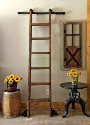 7 Ft Wood Library Loft Ladder Plus Library Kit Side Floor