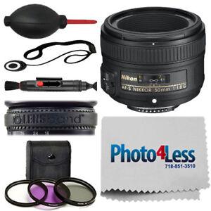 NEW Nikon 50mm f/1.8G AF-S NIKKOR Lens for DSLR Cameras + Complete Accessory Kit 18208021994