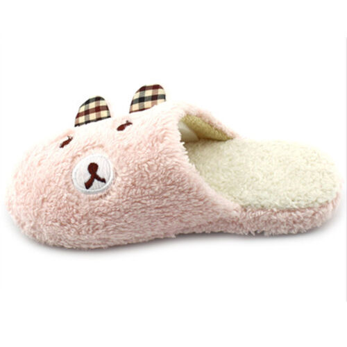 Indoor Winter Slippers Comfy Soft Home Bedroom Plush Warm Anti-Slip Shoes YI