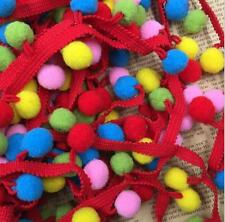 5 Yards Pom Pom Applique Fringe Trim Ribbon Colorful Ball Decorated Lace Trim